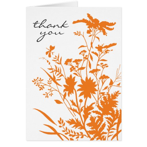 Wildflower Thank You Card