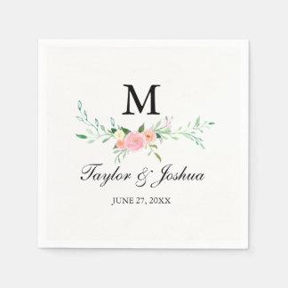 Wildflower Watercolor Wedding Napkin