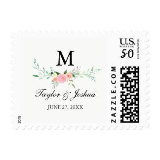 Wildflower Watercolor Wedding Stamp