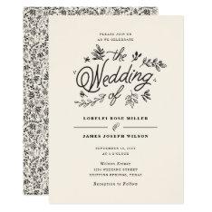 Wildflower Wedding Invitation at Zazzle