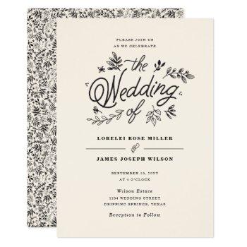 Wildflower Wedding Invitation by origamiprints at Zazzle