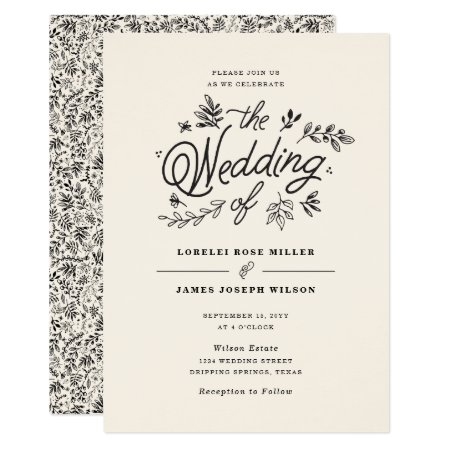 Wildflower Wedding Invitation