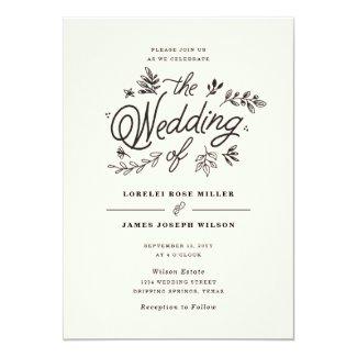 Wildflower Wedding Invitation at uniquerusticweddinginvitations.com