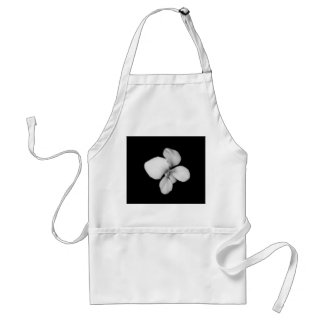 """Wildflower White"" Adult Apron"