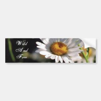 Wildflower, Wild And Free Car Bumper Sticker