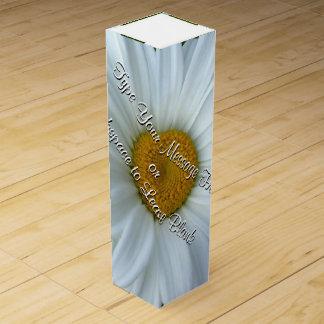 Wildflower Wine Box Custom White Daisies Wine Box