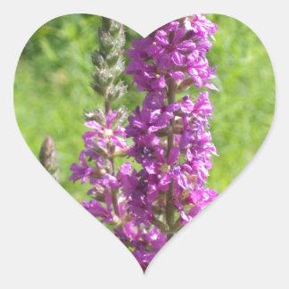 Wildflowers 2 heart sticker
