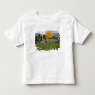 Wildflowers along Swiftcurrent Lake in the Many Toddler T-shirt