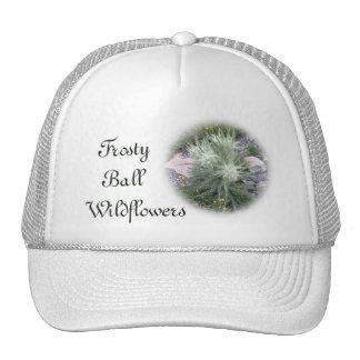 Wildflowers alpinos de la bola escarchada gorros bordados