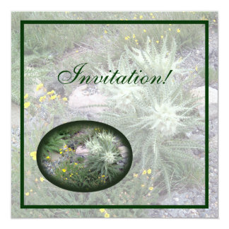 """Wildflowers alpinos de la bola escarchada invitación 5.25"""" x 5.25"""""""