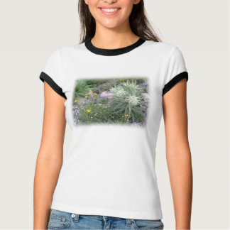 Wildflowers alpinos de la bola escarchada poleras