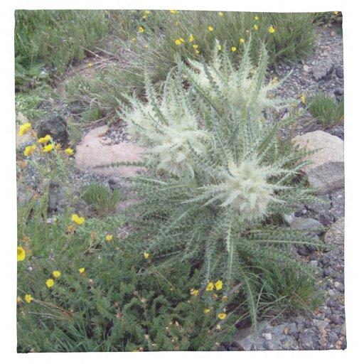 Wildflowers alpinos de la bola escarchada servilletas de papel