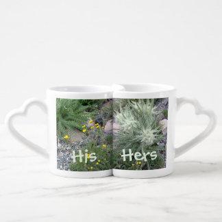Wildflowers alpinos de la bola escarchada set de tazas de café