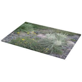 Wildflowers alpinos de la bola escarchada tablas de cortar