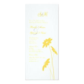 Wildflowers amarillos y blancos que casan la invitación 10,1 x 23,5 cm