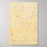 Wildflowers amarillos y grises poster