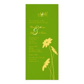 Wildflowers amarillos y verdes que casan la invitación 10,1 x 23,5 cm