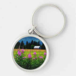 Wildflowers and Country Barn Keychain