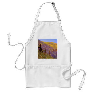 Wildflowers And Fence Post Adult Apron
