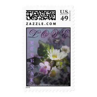 wildflowers and hearts postage