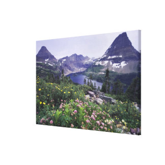 Wildflowers and Hidden Lake, Shrubby Gallery Wrapped Canvas