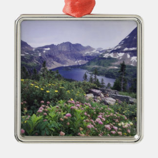 Wildflowers and Hidden Lake, Shrubby Metal Ornament