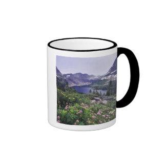 Wildflowers and Hidden Lake, Shrubby Ringer Coffee Mug