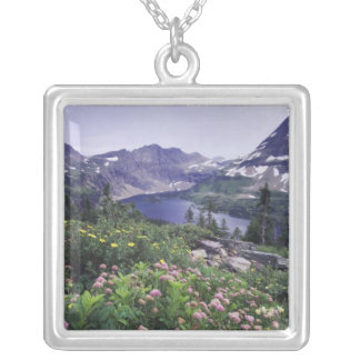 Wildflowers and Hidden Lake, Shrubby Silver Plated Necklace