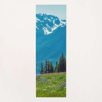 Wildflowers and Mountains Yoga Mat