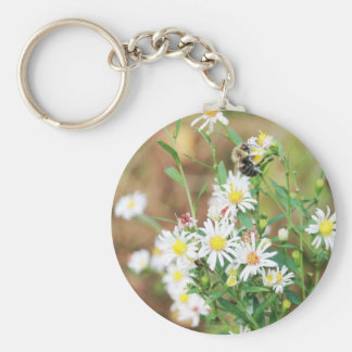 Wildflowers and Mr. Bumblebee Keychain