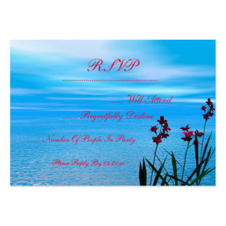 Wildflowers and Ocean Large Business Card
