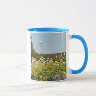 Wildflowers And Windmill In Texas Hill Country Mug