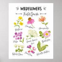 Wildflowers art Wild flowers poster wall nursery