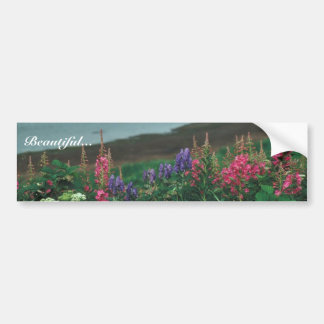 Wildflowers at Grant Point Car Bumper Sticker