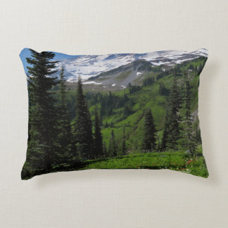 Wildflowers at Mount Rainier Accent Pillow
