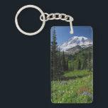 "Wildflowers at Mount Rainier Keychain<br><div class=""desc"">View of Mount Rainier from Mazama ridge</div>"