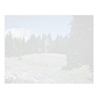 Wildflowers At Ski Run, Gondolas flowers Letterhead Template