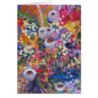 Wildflowers australianos tarjeta de felicitación