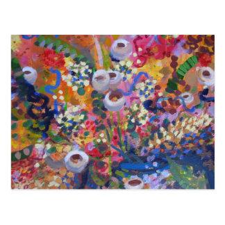 Wildflowers australianos tarjeta postal