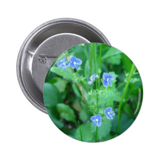 Wildflowers azules minúsculos pin redondo de 2 pulgadas