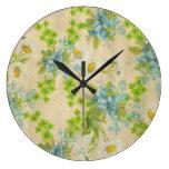wildflowers bonitos del vintage relojes de pared