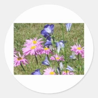 Wildflowers bonitos y coloridos pegatinas