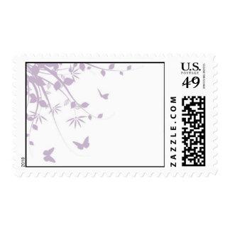Wildflowers + butterflies (lavender) stamp