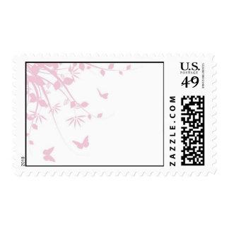 Wildflowers + butterflies (pink) postage