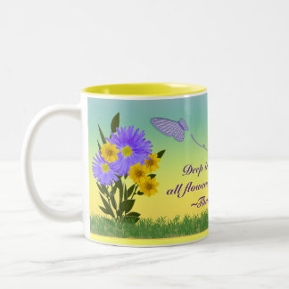 Wildflowers & Butterflies Two-Tone Coffee Mug