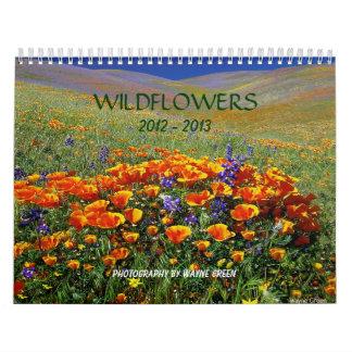 Wildflowers - calendario para 2012 - 2013