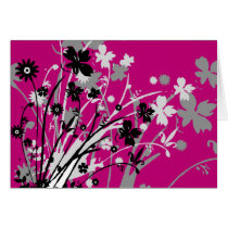 flourish, design, pink, greeting, card, notecard, flower, flowers, floral, art, nature, gift, gifts, Card with custom graphic design