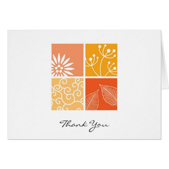 Wildflowers Collage Thank You Card