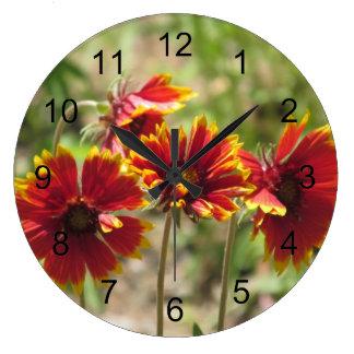 Wildflowers combinados indios reloj redondo grande