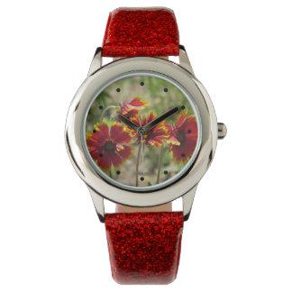 Wildflowers combinados indios relojes de mano